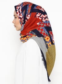 Navy Blue - Ethnic - Shawl