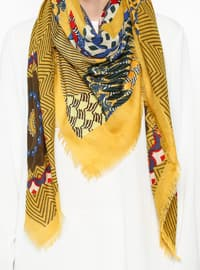 Yellow - Ethnic - Shawl