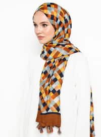 Brown - Ethnic - Shawl
