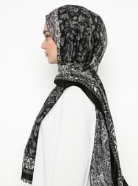 Multi - Black - Shawl Patterned - Shawl