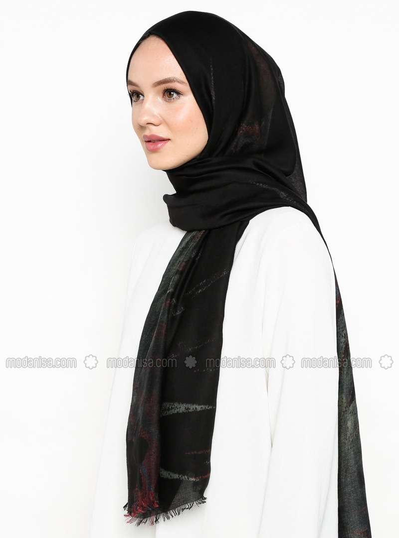 Black - Ethnic - Shawl