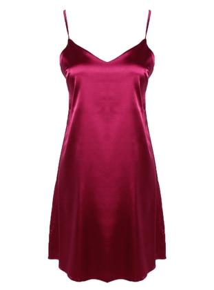Cherry - V neck Collar - Nightdress
