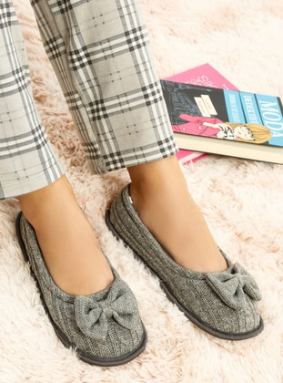Gray - Flat - Flat Shoes