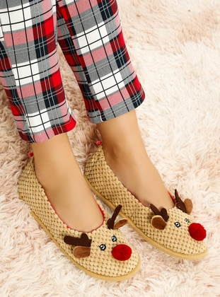 Brown - Flat - Flat Shoes