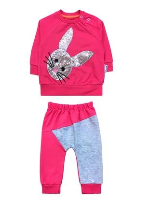 Crew neck - - Pink - Baby Suit