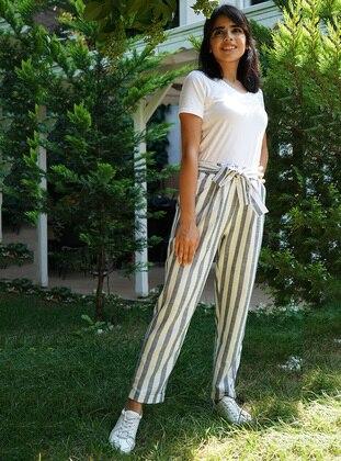 Anthracite - Stripe -  - Pants