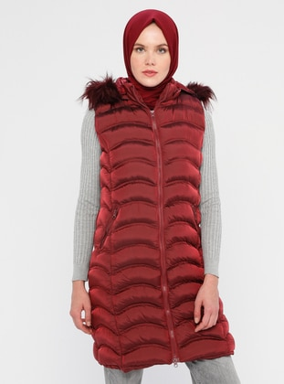 Maroon - Fully Lined - Crew neck - Vest