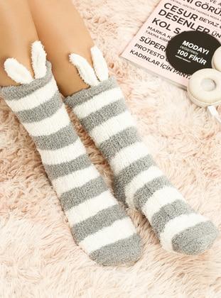 White - Pink - Socks