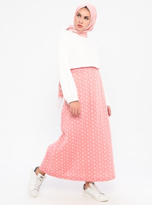 Pink - Unlined -  - Skirt