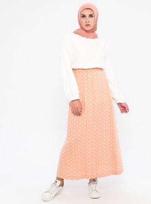 Orange - Unlined -  - Skirt
