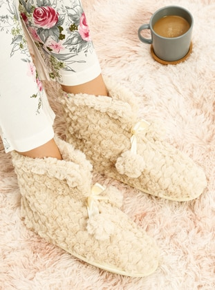 Casual - Beige - Home Shoes
