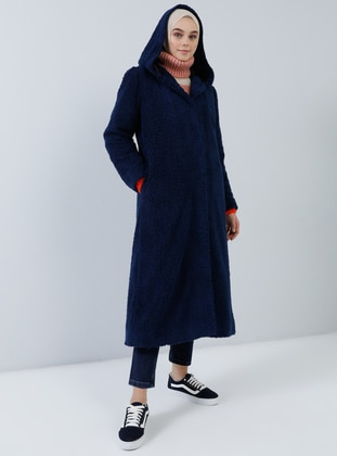 Navy Blue - Fully Lined -  - Coat