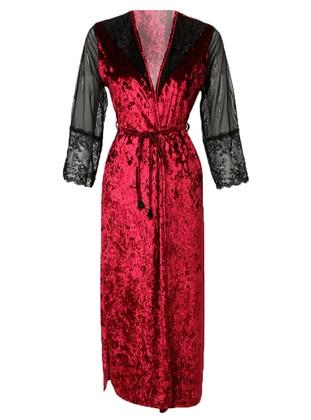 Maroon - Polyurethane - Morning Robe