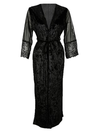 Black - Polyurethane - Morning Robe
