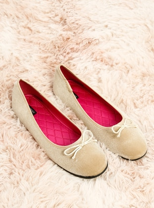 Beige - Flat - Girls` Flat Shoes
