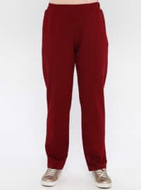 Maroon - Unlined -  - Suit