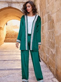 Green - Viscose - Morning Robe