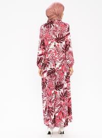 Fuchsia - Crew neck - Unlined - Dress