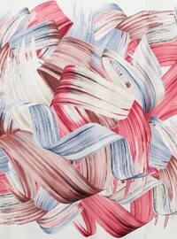 Dusty Rose - Printed - Rayon - Scarf