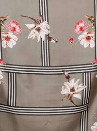 Multi - Floral - Digital Printing - %100 Silk - Scarf