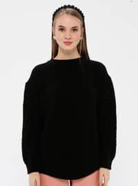 Black - Crew neck - Acrylic -  - Jumper