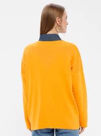 Orange - Crew neck - Acrylic -  - Jumper