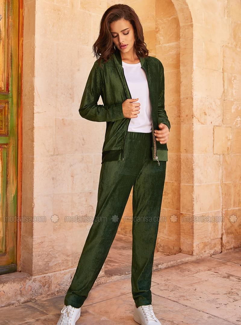 Modal -  - Green - Loungewear Suits