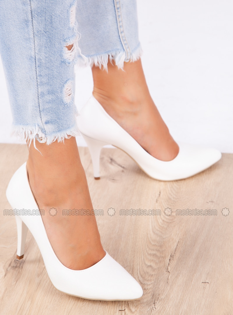 High Heel Shoes White