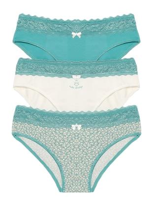 Beige - Ecru - Mint -  - Panties - ŞAHİNLER