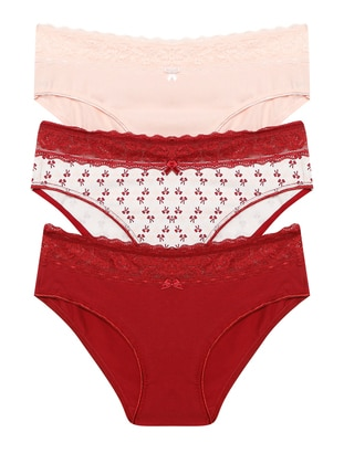 White - Maroon - Powder - - Panties