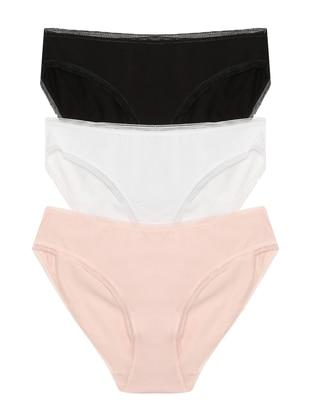 White - Powder - Black -  - Panties - ŞAHİNLER