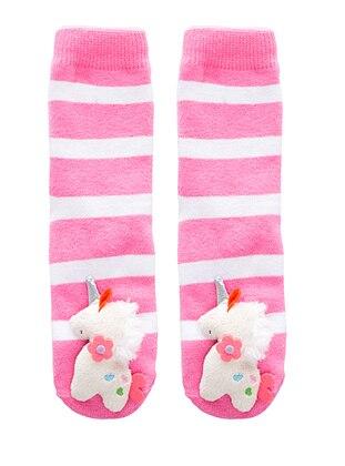 White - Fuchsia - Socks