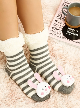 Casual - White - Gray - Home Shoes