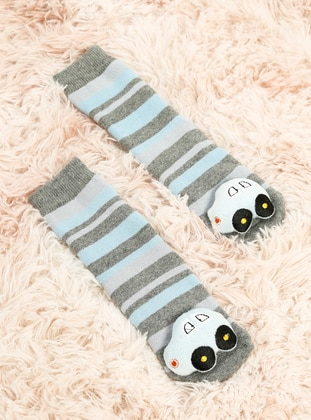 Gray - Blue - Socks
