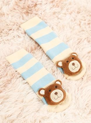 Brown - Turquoise - Socks