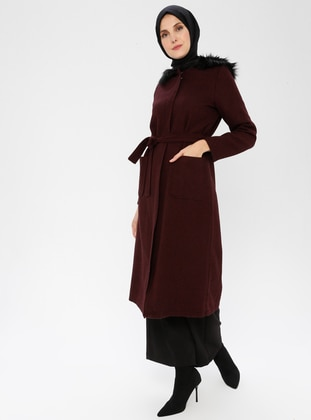 Maroon - Fully Lined -  - Coat