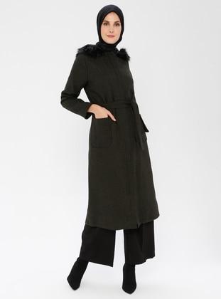 Khaki - Fully Lined - - Coat