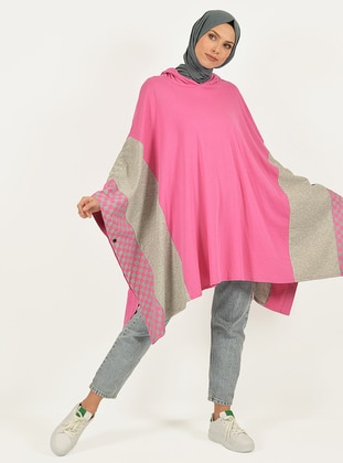 Fuchsia - Multi - Unlined -  - Poncho