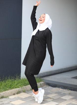 Black - Unlined - Acrylic - Suit
