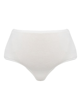 White - Cotton -  - Panties