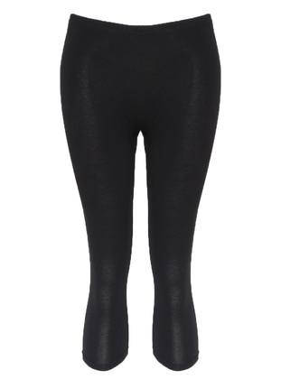 Black -  - Legging - ŞAHİNLER