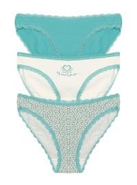 Beige - Ecru - Mint -  - Panties