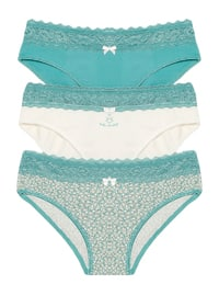 Beige - Ecru - Mint -  - Panties