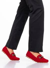 Red - Flat - Flat Shoes
