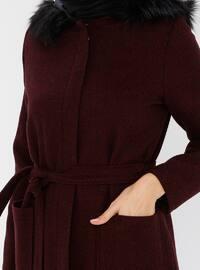 Maroon - Fully Lined - - Coat