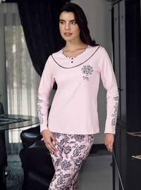 Pink - Crew neck -  - Pyjama