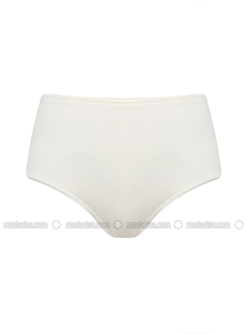 Ecru - Cotton -  - Panties