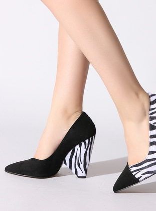 White - Black - High Heel - Shoes