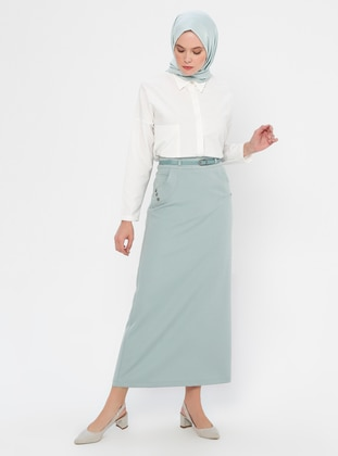 Mint - Fully Lined - Viscose - Skirt