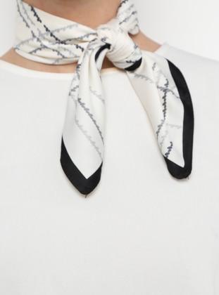 White - Black - Shawl